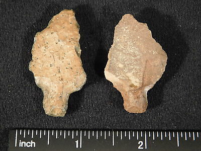 TWO 55,000 to 12,000 Year Old! Stemmed Aterian Lithic Artifacts! Algeria 7.70