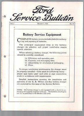 Rare 1926 Ford Service Bulletin Car Brochure