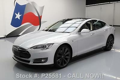 2013 Tesla Model S  2013 TESLA MODEL S P85 PERFORMANCE TECH PANO NAV 27K MI #P25581 Texas Direct