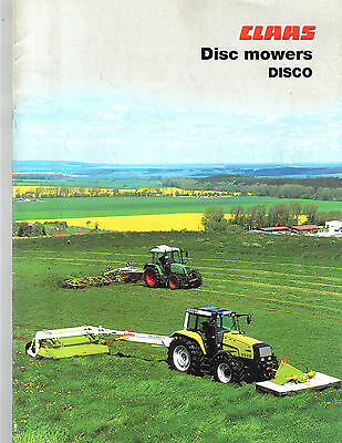 2003 Claas Tractor Disc Mowers Disco Brochure