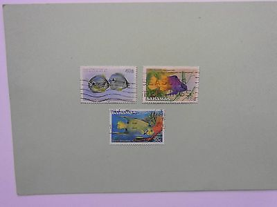 BAHAMAS: 1986 Fishes/3values 40cts to 50cts VFU Sg765/67