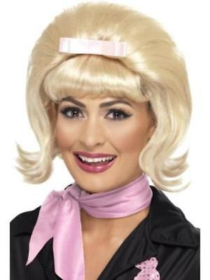 Blonde Flicked Beehive Bob Ladies Fancy Dress 1950s 50s Costume Accessory Wig