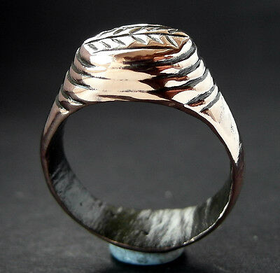 STUNNING VF DECORATED ROMAN Æ RING - a solid werable ring