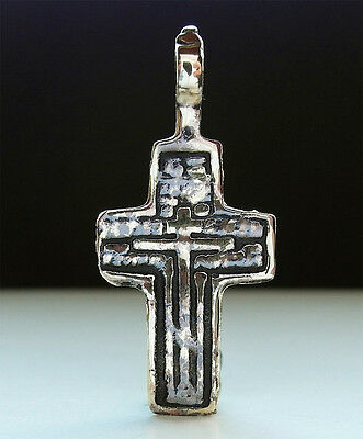 Superb Genuine Post Medieval Bronze Cross Pendant