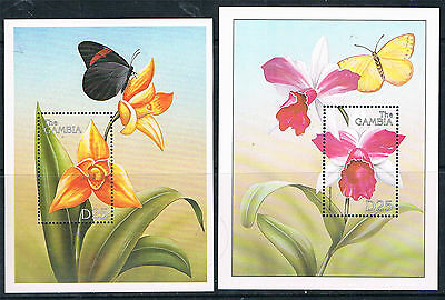 Gambia 1999 Orchids of the World 2x  MS SG 3193 MNH