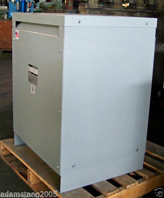 Powerformer  45kva TRANSFORMER 3 PHASE 480v-208v/120v DELTA WYE 460V