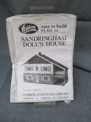 Vintage Hobbies Wood Sandringham Doll's House  Plans