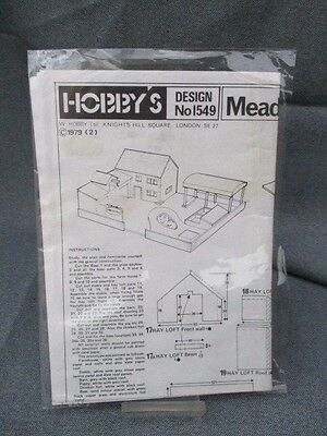 Vintage Hobbies Wood Farmyard  Plans