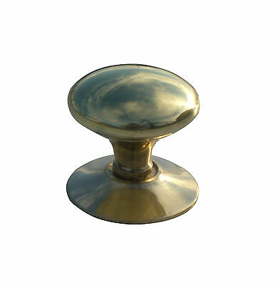 10 x Polished brass 32mm Victorian cabinet cupboard knobs. (423)
