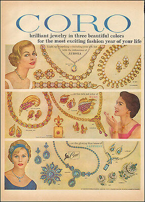 1958 Vintage ad for Coro`Jewelry retro Fashion Photo (103116)