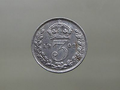 1902 Edward VII Sterling Silver Threepence, Lovely Coin - FREE POSTAGE (E199)