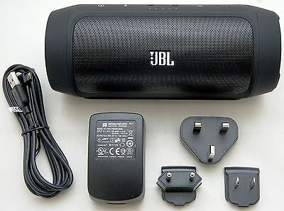 JBL Charge 2 Black Portable Bluetooth Speaker Wireless Device iPhone 6+/5s/4s/7