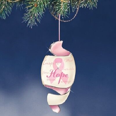 Journey of Hope Pink Breast Cancer Awareness Ornament  Bradford Exchange