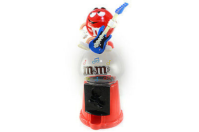 M&M's Dispenser Guitar Player Sweets Jelly Chocolates Plastic Container Jar