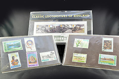 Royal Mail Pack Classic Locomotives England Malawi 1980s Post Stamps Collectable