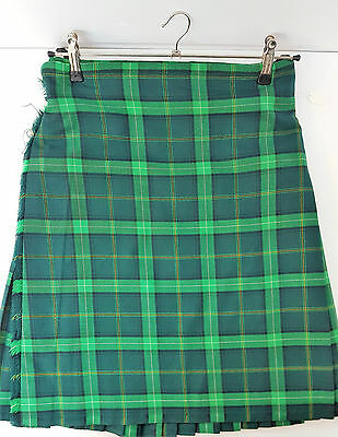 "Ex Hire 32"" waist 25"" drop Celtic  6 Yard Wool Kilt A1 Condition"