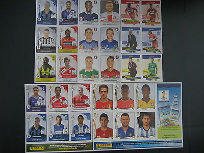 30 PANINI-stickers voetballers