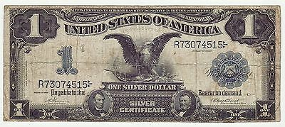 Tougher VERNON / TREAT 1899 Black Eagle $1 Dollar Large Silver Certificate Note