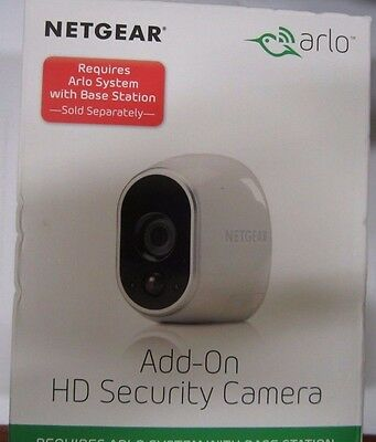 New Netgear Arlo Add-on HD 100% Wire-Free Night Vision Security Camera VMC3030