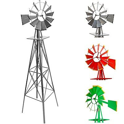 Gigantic US Whirligig 245cm,silver red green,Ball bearing Windmill