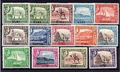 Aden (513) 1939  Full set to 10 Rupee's  plus very lightly mounted Sg16-27+