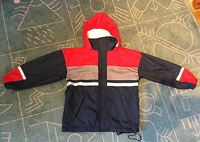 TCM navy / red girls / boys unisex zipped jacket size 6 - 8 y 122 - 128 cm