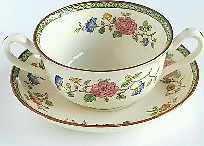 Vintage Copeland Spode Soup Cup and Saucer