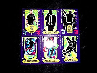 Match Attax 16/17 Full Set Of 6 Tactic Cards. Mint