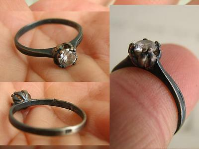 VERY NICE VINTAGE SILVER  RING with  STONE #5073