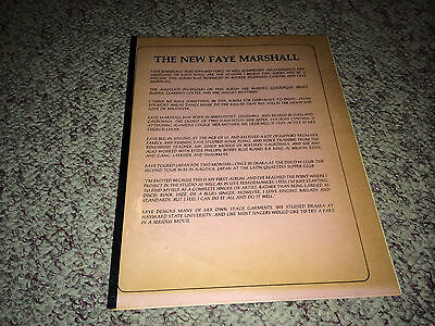 FAYE MARSHALL Original Promo Publicity Materials 1970s Soul Funk Singer Northern