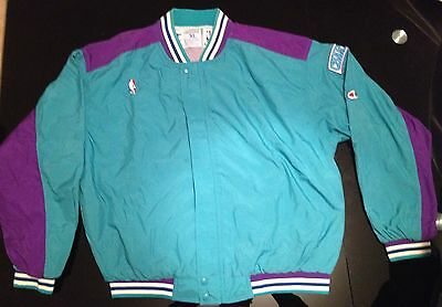 VTG 90's NBA Ensemble Outfit Warm Up Charlotte Hornets CHAMPION taille XL