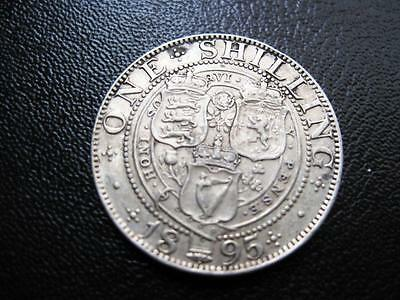 Coins  Victoria  Oh Shilling Dated 1895 In Vf Condition