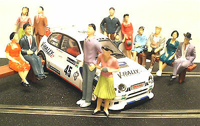 1:32nd Slot Car Painted Figures Seated & Standing Trackside People Spectators