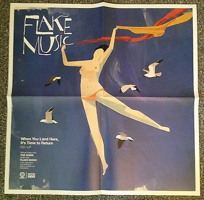 FLAKE MUSIC (The Shins) - When You Land Here LARGE 21x21 PROMO POSTER - SUBPOP..