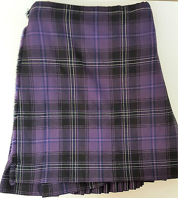"Ex Hire 50"" waist 23"" drop Purple Passion Of Scotland 8 Yard Wool Kilt A1 Cond"