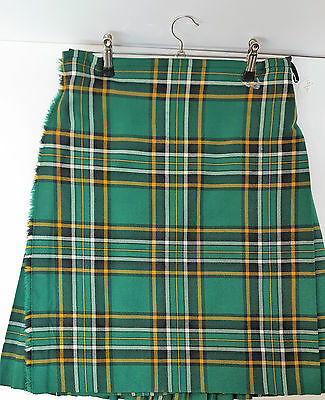 "Ex Hire 35"" waist 25"" drop Irish National  8 Yard Wool Kilt A1 Condition"