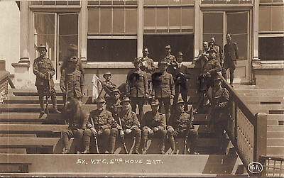 WW1 soldier group Sussex VTC Volunteer Training Corps 2nd Hove Battalion Hove