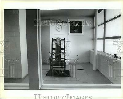 1990 Press Photo Angola State Penitentiary - Execution Room and Electric Chair