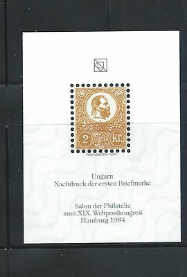 Hungary - First Stamp - Official Reprint