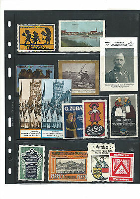 Old Lot Poster Stamps / Cinderellas / Reklamemarken - 7
