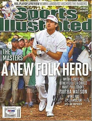 Bubba Watson Signed Autographed 2012 Master's Sports Illustrated Psa/dna #z47425