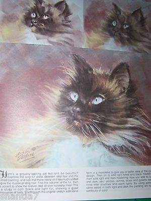 How To Draw Cats And Kittens By Leslie Demille Walter Foster Tole Paint Book
