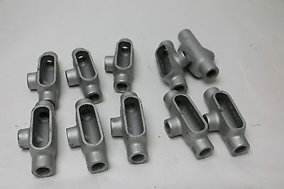 Lot of 10 NEW Crouse Hinds 3/4 In. T27 Condulet Conduit Outlet Bodies Form 7