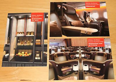 ## NEW ## 3 x China Airlines (Taiwan) AIrbus A350 Cabins Airline Issued Postcard