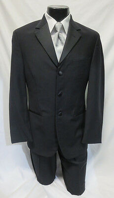 Black Lauren Ralph Lauren Tuxedo Package Jacket, Pants, Shirt, Vest, Tie Tux Set