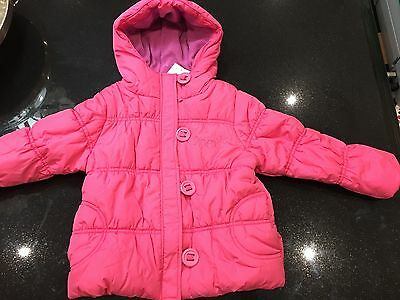 BNWT Next Girls Pink Warm Padded Coat with Hood Shower resistant 5-6 yrs