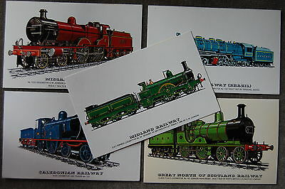 10 postcards RAILWAY TRAIN STEAM ENGINES LOCOMOTIVES COLLECTORS REPROS 1 JOB LOT