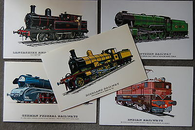 10 postcards RAILWAY TRAIN STEAM ENGINES LOCOMOTIVES COLLECTORS REPROS 3 JOB LOT