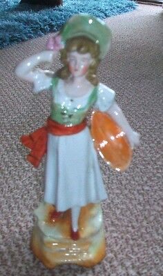 Beautiful Vintage Continental? German?  Figurine of Young Lady