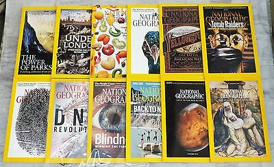 12 National Geographic Magazines 2016 Complete January - December + Maps